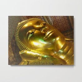 Reclining Buddha at Wat Po Metal Print