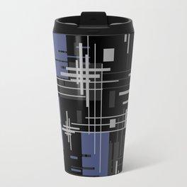 Black and blue abstract Travel Mug
