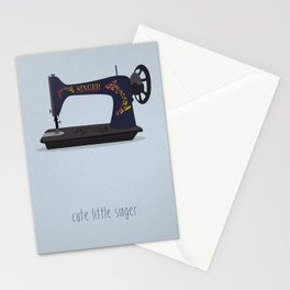 Cute Little Singer Stationery Cards