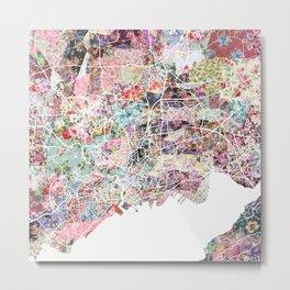 Brest map Metal Print