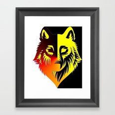 The Solar Wolf Framed Art Print
