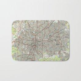 Atlanta Georgia Map (1981) Bath Mat