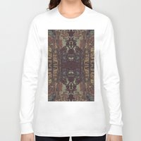 bohemian Long Sleeve T-shirts featuring Bohemian Square by Jane Lacey Smith