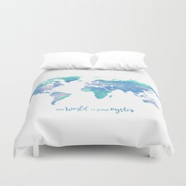 The world is your oyster Duvet Cover