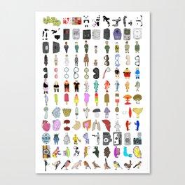 Letterpress Collection #01 Canvas Print