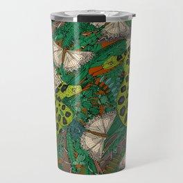 entangled forest rust Travel Mug