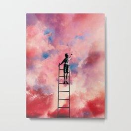 Cloud Painter Metal Print