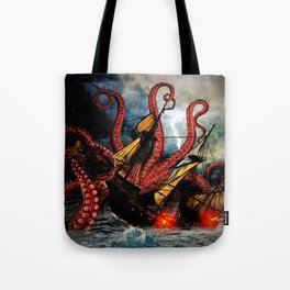 In the Grasp of the Storm Tote Bag