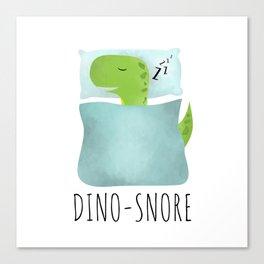 Dino-Snore Canvas Print