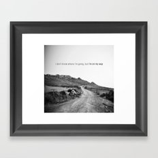 perdu ? Framed Art Print