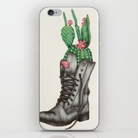 shoe iPhone & iPod Skins featuring Shoe Bouquet II by The White Deer