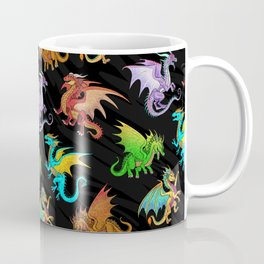 Colorful Rainbow Dragons School Coffee Mug