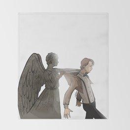 [ Doctor Who ] Eleven Matt Smith Weeping Angel Throw Blanket