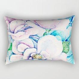 blue flowers c Rectangular Pillow