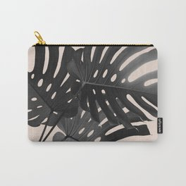 Tropical Monstera Finesse Glam #1 #tropical #decor #art #society6 Carry-All Pouch