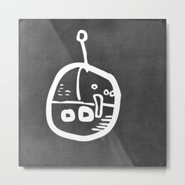Chalkboard Wallies Metal Print