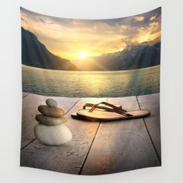 Zen Sunset Wall Tapestry