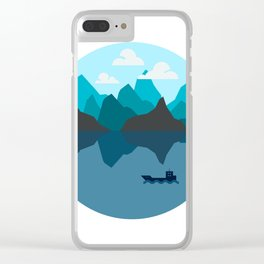 Tanker on the Ocean Clear iPhone Case