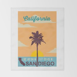 San Diego. Throw Blanket