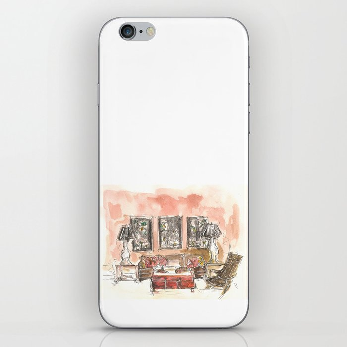 Vintage 90s Living Room Painting Iphone Skin
