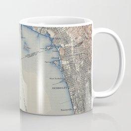 Vintage Map of San Francisco California (1914) Coffee Mug