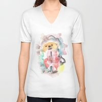 clown V-neck T-shirts featuring Clown by osile ignacio