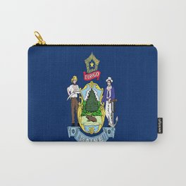 flag maine,america,usa,pine tree,vacationland, mainer,new england,portland,brunswick,lewiston Carry-All Pouch