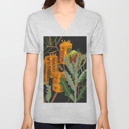 Hairpin Banksia Unisex V-Neck