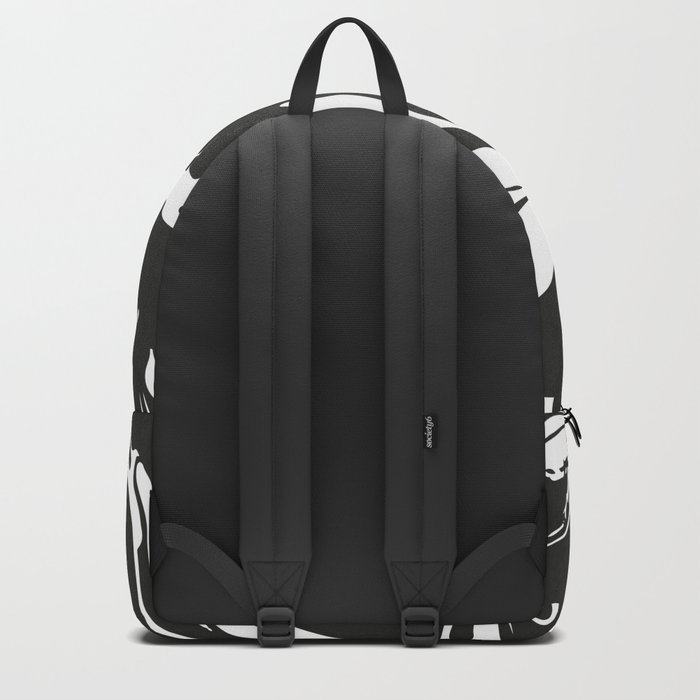 Black and White Marble Surface Design Backpack