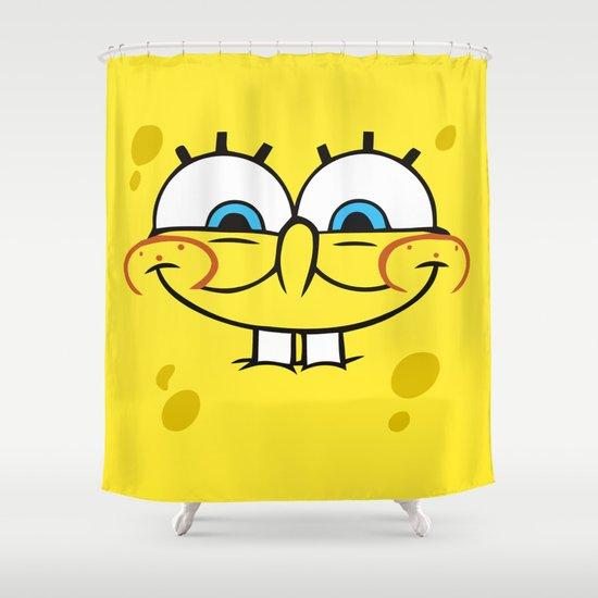 Spongebob Naughty Face Shower Curtain by cutecutecute | Society6