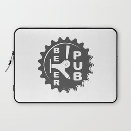 Black Beer Pub Brewery Handcrafted style Fashion Modern Design Print! Laptop Sleeve