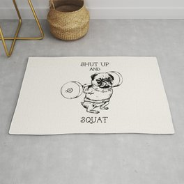 Shut Up and Squat Rug