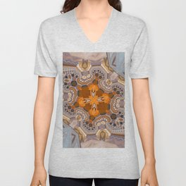 Abstract autumn with artistic mushrooms Unisex V-Neck