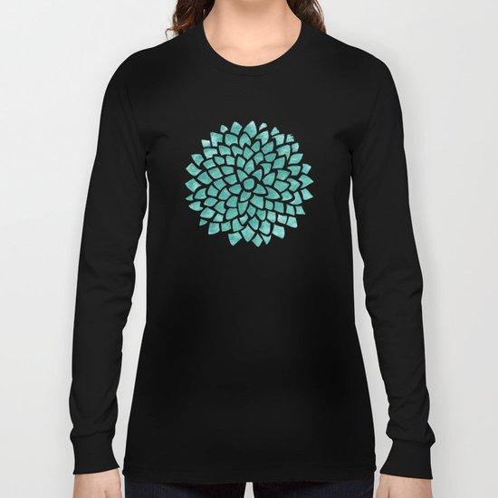 Teal Ice Long Sleeve T-shirt