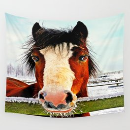 Snowy Whiskers Wall Tapestry