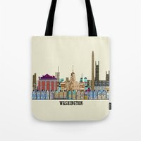dc Tote Bags featuring washington dc  by bri.buckley