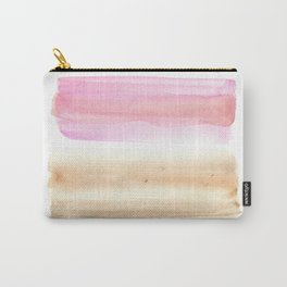 Peachy Creamy   watercolour painting  minimalist watercolor Carry-All Pouch