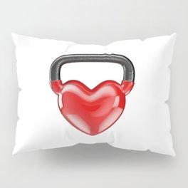 Kettlebell heart vinyl / 3D render of heavy heart shaped kettlebell Pillow Sham
