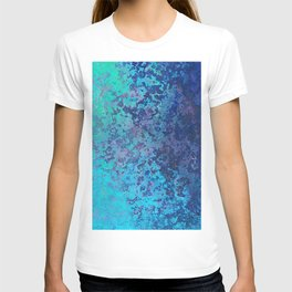 Icy Blue Abstract Painting T-shirt