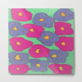 Poppies in Bright Color Metal Print