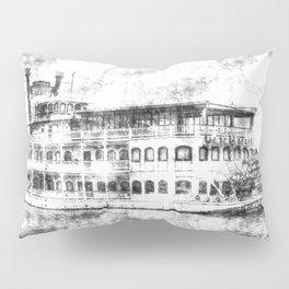 New Orleans Paddle Steamer Vintage Pillow Sham