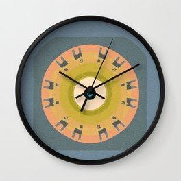 Soverignty & Health Meditation Tribal Evil Eye Protective Modern Mandala Wall Clock