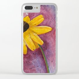 Bending towards the Sun Clear iPhone Case
