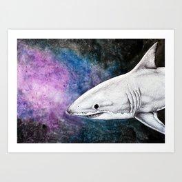 Galaxy Shark Art Print