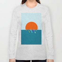 Minimal regatta in the sun Long Sleeve T-shirt