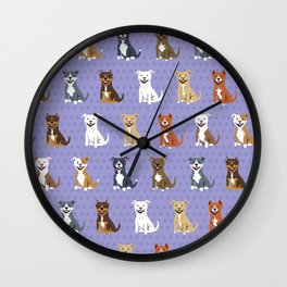 American PIT BULL TERRIERS Wall Clock