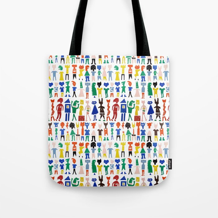 Characters Tote Bag