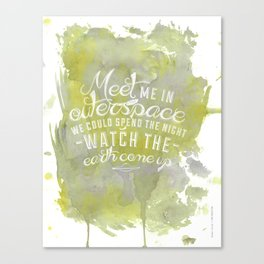 LYRICS - Meet me in outerspace - COLOR Canvas Print