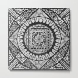 Zendala - Zentangle®-Inspired Art - ZIA 29 Metal Print