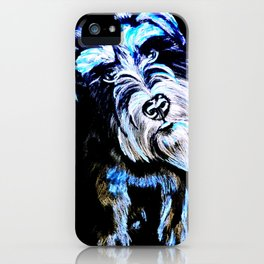 Blue Schnauzer iPhone Case